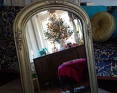 Vintage Mirror in Metallic Gold Frame ...Vintage Poppy Cottage Painted Furniture Aged Metallic