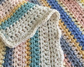 Cotton Pastel Baby Blanket - Car Seat Size