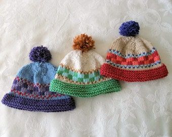 Baby Hat Knitted Baby Beanie Knitted Baby Hat Ski Hat Knitted Hat Cotton Knitted Hat Children Clothing Baby knitted Hat