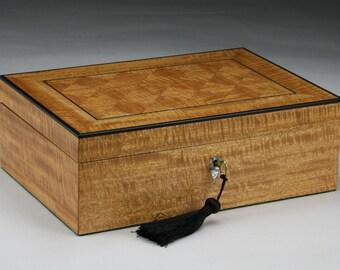 Kalos (Beautiful) Mahogany and Ebony Jewelry Box
