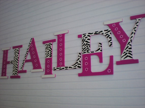 Large wall letters kids name letters painted wall letters for Large wall letters for nursery