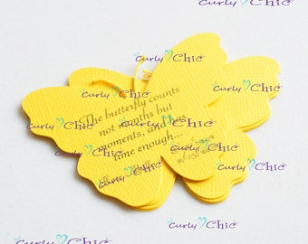 """90 Personalized Butterflies III Tags Size 3"""" Non-textured or Textured Cardstock paper"""