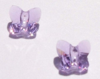 Swarovski butterfly beads BUTTERFLY 5754 crystal beads VIOLET - Available in 6mm, 8mm and 10mm