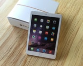 Gold iPad Air Miniature Tablet Toy for Blythe Barbie Dal Pullip Lati or Similar BJD Dolls