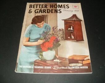Vintage Better Homes and Gardens Magazine February 1939 - Scrapbooking, Paper Ephemera, 1930s Vintage Ads