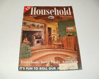 Vintage Household Magazine April 1958  - 1958 Chevy Car Ad,  Fashion, Retro, Vintage Ads, Scrapbooking, Paper Ephemera