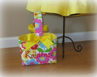 Personalized Easter Basket Personalized Easter Bucket Custom Easter Basket Floral Easter Basket