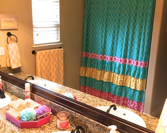 Custom Shower Curtains, Ruffled Shower Curtains, Fancy Shower Curtains, Made to Order