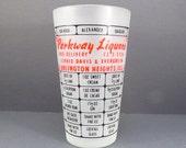 Parkway Liquors Cocktail Shaker Vintage 1950s Mid Century Drink Recipe Martini Shaker Bar Ware Retro Mad Men Barware