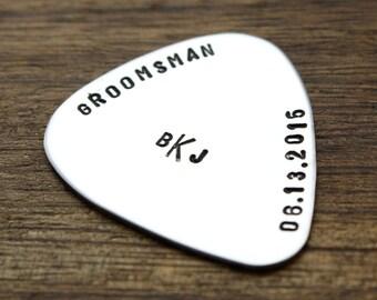 Groomsman Guitar Pick Groomsman Guitar Pick Groom Gift Groomsmen Wedding Party Gift Groomsman Personalized Gift Music Theme