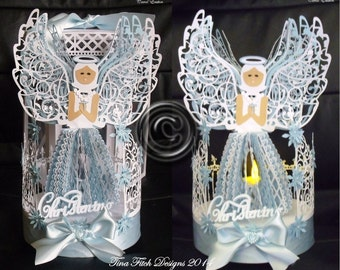 3d Angel Blessing Tea Light Cutting File Template