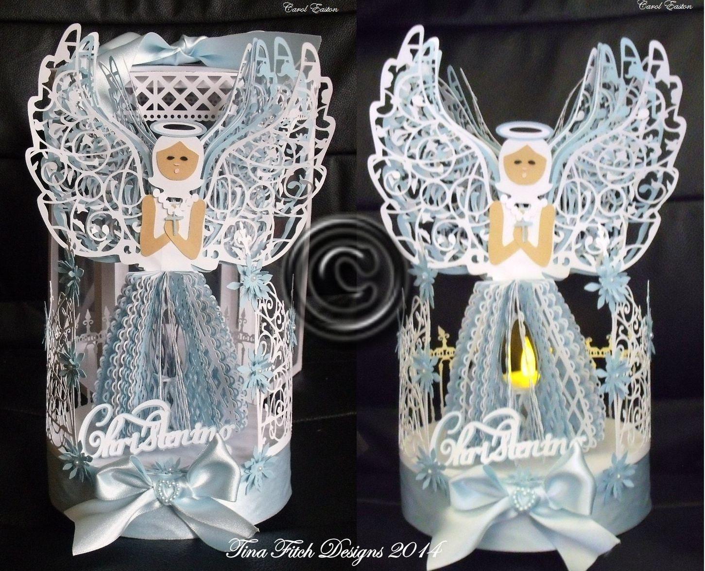3d Angel Blessing Tea Light Cutting File Template