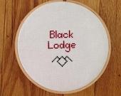 Black Lodge Twin Peaks Cross Stitch