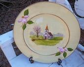 Spring Church Decorative Plate