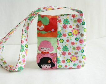 Tokyo doll girls purse- over shoulder kids purse-Girls Purse