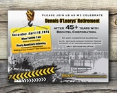 DIGITAL DIY - CONSTRUCTION Party Invitation - Construction Retirement - Under Construction - Personalized Sign, Invitation, Notice, Flyer