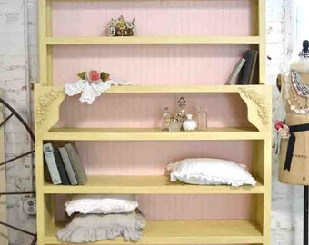 Painted Cottage Chic Shabby Handmade Bookcase / Display Cabinet BC22