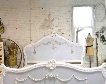 Painted Cottage Shabby  French Romantic  Bed King / Queen  BD715
