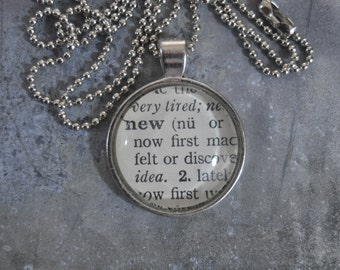 Dictionary Word Necklace - new