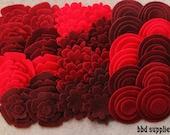 Wild Berries - Super Pack - 132 Die Cut Felt Flowers and Circles
