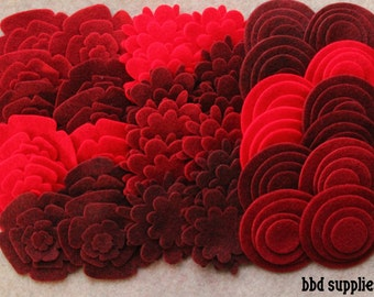 Wild Berries - Super Pack - 132 Die Cut Felt Flowers and Circles