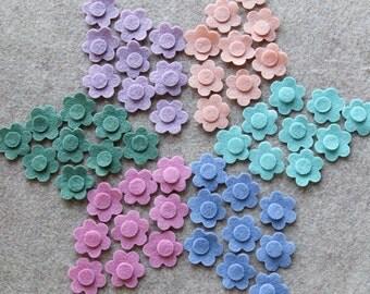 Watercolors - Tiny Flowers - 54 Die Cut Wool Blend Felt Flowers
