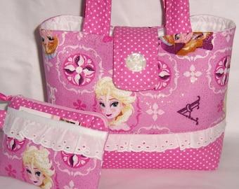 Frozen Elsa and Anna Glitter Children Handbag
