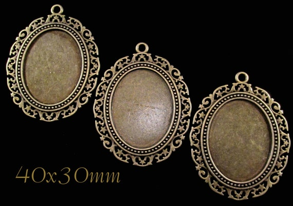 40x30mm Antique Bronze Setting Quot Stella Quot 3 Pcs Sku 03
