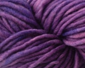Purple Bulky / Chunky Weight Hand Painted Wool Yarn Pencil Roving in Hydrangea Purple 60 yards Hand Dyed