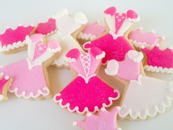 Princess Mini Sugar Cookies- 2 Dozen Dresses and Crowns