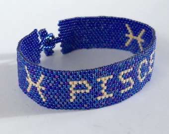 Pisces Zodiac Horoscope Sign - Bracelet Pattern - Peyote Pattern