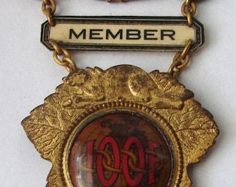 MASONIC ODD FELLOWS Old Masonic Order of Odd Fellows Chorazin Lodge, No. 190, I.O.O.F. London Member Whitehead & Hoag Enameled medal