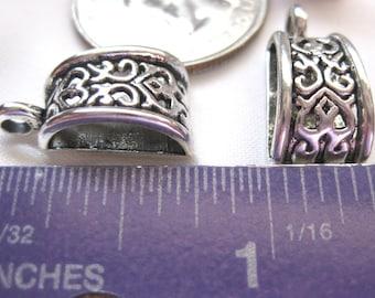 Bead Bail Pendant Charm Tibetan Silver Jewelry Supply 5 pieces