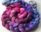 Kawaii - mixed BFL hand dyed combed top - 4 oz