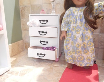 "American Made 18"" Doll FURNITURE Fits AMERICAN GIRL Dolls complete bedroom-closet organizer dresser rug bunting linens Dresser only  amazing"
