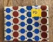 Denyse Schmidt Katie Jump Rope dots fabric blue and brown FQ