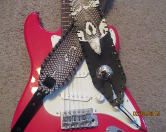 "King Cobra and Concho  2"" OR 3"" Wide Guitar Strap"