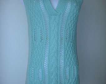 Aqua summer sweater no.66