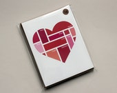 Valentine Color Swatch Heart: Set of 8 Notecards