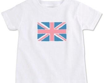 Union Jack Flag Cotton Toddler T-Shirt
