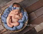 Angel Hair Basket Fluff Filler Baby Soft Blue Newborn Photography Prop Mat Blanket Unisex baby boy girl
