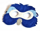 Childrens Blue Macaw Mask, Parrot Bird Kids Carnival  Mask Dress up Costume Accessory, Pretend Play Toy for Girls Boys, Toddlers