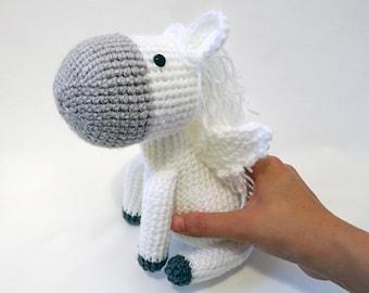 MADE to ORDER - Amigurumi Pegasus- amigurumi horse, cute crochet pegasus softie, crochet animal plush, children's toy, crochet horse softie