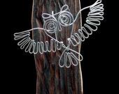 An Owl  Wire  Wall Sculpture.
