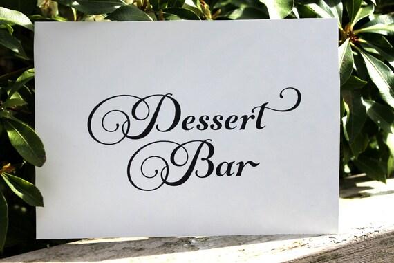 Dessert Bar, Printable Wedding Sign INSTANT DOWNLOAD, Wedding Reception