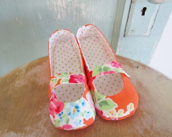 Shoe Pattern - PDF - Mary Jane flats - child size 8 to 12