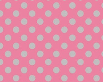 Riley Blake DesignsMedium Holiday & School Colors Chevron. pattern C430-10 Hot Pink/Gray - Medium Dot.. By the YARD