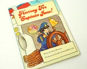 Hurray for Captain Jane by Sam Reavin 1971 VGC Hc / A Girl Has An Adventure in the Bathtub / Vintage Childrens Book