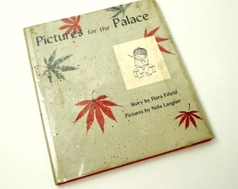 Pictures for the Palace by Flora Fifield 1957 HCDj / A Japanese Boy Who Loves To Draw / Vtg Children's Book
