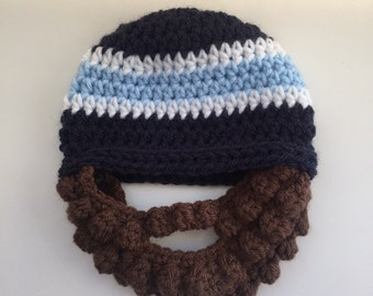 Bearded Beanie Bearded Hat All Sizes Newborn to Adult Family Fun Beanies